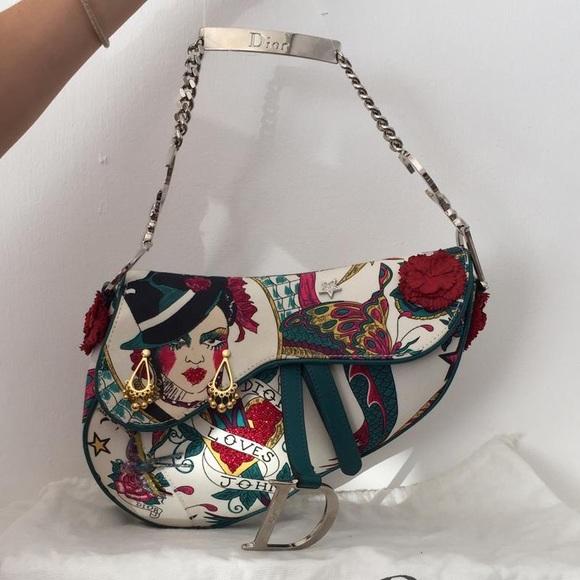 """Dior Saddle Bag """"Dior Loves John"""" limited edition"""